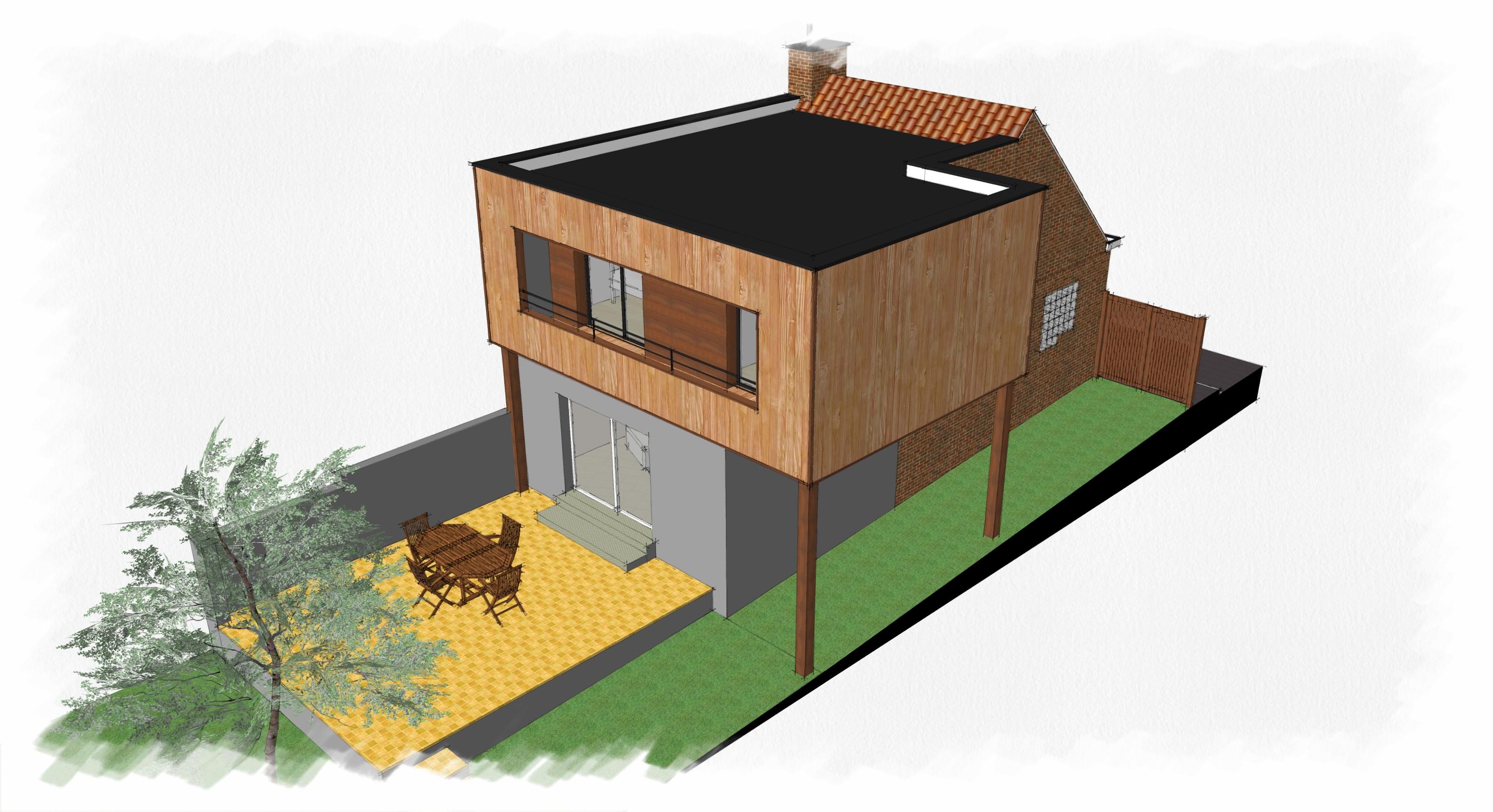 Architecte lille bien chez soi agence architecture for Extension maison suite parentale